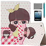 LEXY® Beautiful Dress Pattern PU Leather Flip Stand Case with Screen Protector and Stylus for iPad Mini 1/2/3