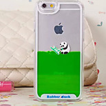 Three-Dimensional Panda Pattern Transparent PC Material Phone Case for iPhone 6 /6S