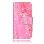 romantische Blumenblatt PU-Material Handtasche Geldtelefonkasten für iphone 5 / 5s