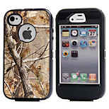 3in1 Hybrid Camouflage Camo Tree Print Dirtproof Hard Built-in Screen Protector Case For iPhone 4 4S
