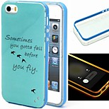 2-in-1 Bird Pattern TPU Back Cover with PC Bumper Shockproof Soft Case for iPhone 5/5S
