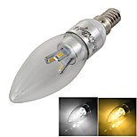 YouOKLight® Dimmable E14 3W 300lm 3000/6000K 6-SMD 5630  Warm White/Cold White LED Candle Lamp- Silver (AC 85-265V)