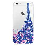 Transmission Tower Pattern Transparent TPU Material Phone Case for iPhone 5 /5S