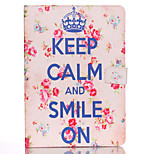 Blue Letter Pattern Standoff Protective Case for iPad Mini 4