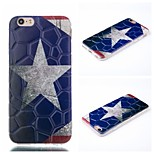 Silver Star Pattern Phone Shell Thin Acrylic Material for iPhone 6/6S