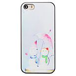 Christmas Style Snowman Under Umbrella Pattern PC Hard Back Cover for iPhone 5/5S