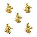 10pcs Egypt God Anubis 3D Gold Nail Art Alloy 7mm x 9mm
