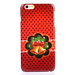 Bell Bow Decal UV Varnish PC Material Christmas Phone Case for iPhone 6 /6S