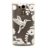White bird Pattern TPU Relief Back Cover Case for LG G3