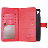 High Quality PU leather Wallet Mobile Phone Holster Case For Sony Xperia Z3/Z4/M4 Aqua(Assorted Color)