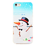Christmas Style Snowman Long Nose Pattern Transparent PC Back Cover for iPhone 5/5S