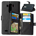 High Quality PU leather Wallet Mobile Phone Holster Case For LG L90/G3(Assorted Color)