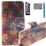 LEXY® Maple Of Autumn Pattern PU Full Body Leather Case with Screen Protector and Stylus for iPhone 6/6S