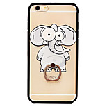 Elephant TPU PC Combo Material Bracelet Holder Section Phone Case for iPhone 6/6S