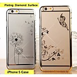 Fashion Ultra-thin Plating Diamond Surface Mobile Phone Protection Shell for iPhone 5/5S