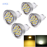 YouOKLight® 4PCS GU10 7W CRI=80 700LM  Warm White/Cool White  15-SMD5630 LED Spot Lights(AC 85~265V)
