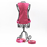 Oxford-The Cute Dots Pet  Harness with Collar and Leash Suit (Assorted Sizes)