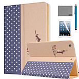 LEXY® Big World attern PU Leather Flip Stand Case with Screen Protector and Stylus for iPad Air 2/iPad 6