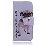 hond patroon pu leer materiaal aanzuigpoort impasse telefoon Case voor iPhone 6 / 6s