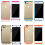 Transparent Premium Slim Color Line TPU+PC Protective Bumper Skin Back Cover Case for iPhone 6 4.7 Inch Only