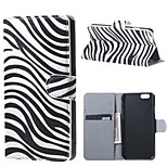 Zebra Stripes Magnetic PU Leather Stand Case Cover for Iphone 6S