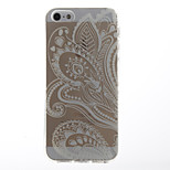 Folk Style Painting Transparent Soft TPU Back Cover for iPhone 5/5S
