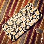 el mar de cuero y tpu del patrón de flores de alta calidad de la PU de la caja trasera para el iphone 6plus / 6s iphone más (colores