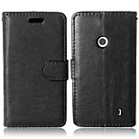 PU Leather + TPU Back Cover Wallet Case Flip Cover Photo Frame Case for Nokia Lumia 520