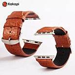 Kakapi Modern Buckle With Buffalo Hide with Connector Watchband Fashion for Apple Watch38/42mm Assorted Colors