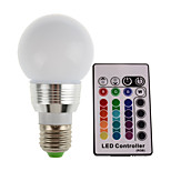 5W E27 300LM RGB LED Lamp Light Bulb Remote Controlled 16 Color Changing(85-265V)