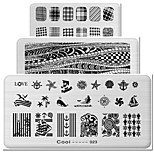 The Rectangular Elements Manicure Printing Plate Hot Manicure Stamp Tool 1-24