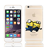 Yellow People Pattern TPU Soft Phone Case for iPhone 6/6S