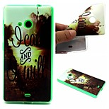 I Can And I Will Words Phrase Pattern 0.6mm Ultra-Thin Soft Case for Lumia 535
