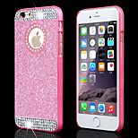 Top Fashion Glitter Powder Rhinestone Bling with Hole Hard Back Case for iPhone 4/4S(Assored Colors)