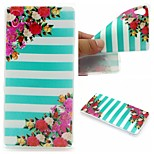 Striped Flower Words Phrase Pattern 0.6mm Ultra-Thin Soft Case for Sony Xperia M4 Aqua