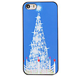 Christmas Style White Star Tree Pattern PC Hard Back Cover for iPhone 5/5S