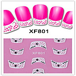 1PCS 3D Nail Stickers French Nail Stickers XF801