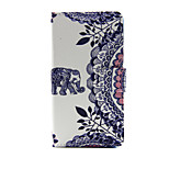 Elephant Design PU Leather Full Body Case with Stand and Card Slot for Sony Xperia M4 Aqua