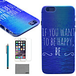 LEXY® Happy Ocean Pattern Hard PC Back Case with 9H Glass Screen Protector and Stylus for iPhone 6/6S
