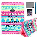 LEXY® Calm Tribal Carpet Pattern PU Leather Flip Stand Case with Screen Protector and Stylus for iPad Mini 1/2/3