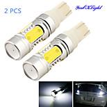 YouOKLight® 2PCS T10 11W 1000lm 5-COB LED 6000K  White Light LED Car Bulb Light (DC12-24V)