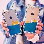 Luxus Strass Diamant Bling Design dünnflüssige Flüssigkeit fließt gelbe Ente PC harter Fall für iphone 5 / 5s (zufällige Farben)