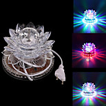 Rotating 8W 48-LED RGB Disco DJ Pub Club Party Crystal Lotus Lamp Stage Effect Light (AC85-240V)