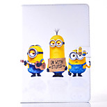 Funny Little Yellow People Pattern PU Material Flip Bracket Protective Case for iPad  Mini 4 (Assorted Colors)