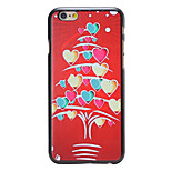 Christmas Style Heart Stripes Tree Pattern PC Hard Back Cover for iPhone 6
