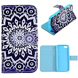 Sunflower Design PU Full Body Case with Stand with Card Slot for iPhone 5C