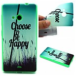 Choose To Be Happy Words Phrase Pattern 0.6mm Ultra-Thin Soft Case for Lumia 535