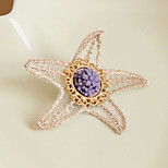 Starfish Palace Vintage Lace Flower Brooch