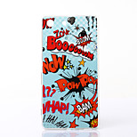 Cool POW Pattern TPU Soft Case for Sony Xperia M5