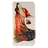 Wolves Design PU Leather Full Body Case with Card Slot and Stand TPU Cover for iPod Touch 5